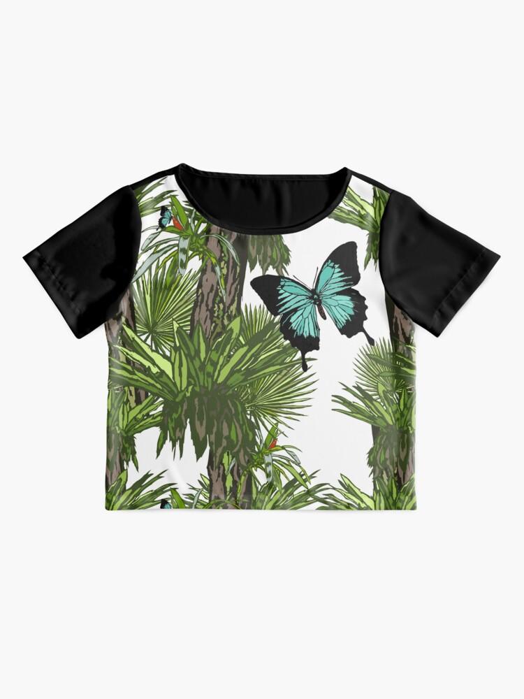 Alternate view of Rainforest Retreat: Ulysses butterfly Chiffon Top
