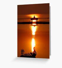 The Mythical Bird of Inle Lake Greeting Card