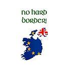 Brexit - Ireland No hard Border! Transparent background. by stuwdamdorp