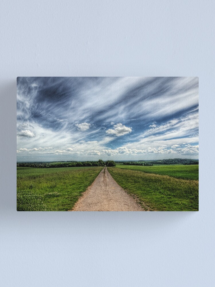 Alternate view of A Farm Road Just Outside Winchester Canvas Print