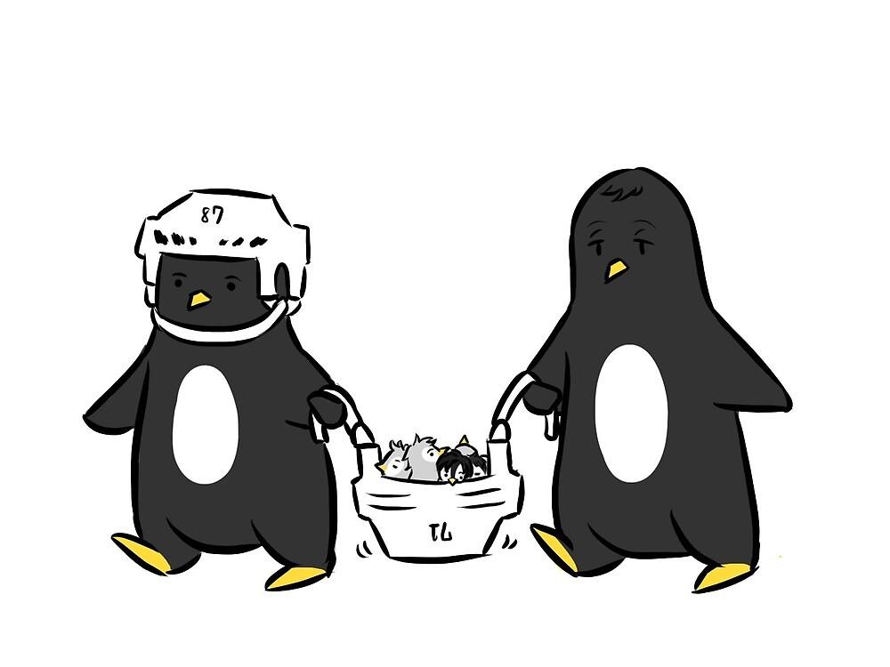 baby penguin transport by ninjaomelet