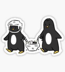 baby penguin transport Sticker