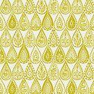 Indische Regentropfen Chartreuse von Sharon Turner