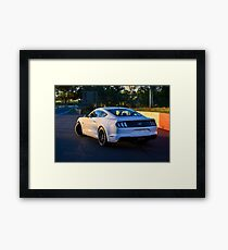 Mustang on Mt Panorama Framed Print
