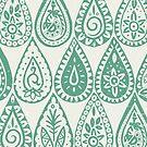 Indische Regentropfen grün von Sharon Turner