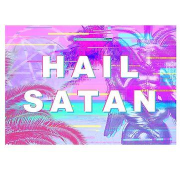 hail satan vaporwave aesthetic  by FandomizedRose