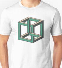 Impossible Optical Illusion Cube Unisex T-Shirt