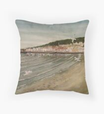 """View from the Old Grand Pier, Weston-Super-Mare, Som."" Throw Pillow"