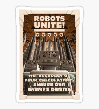 Robots Unite Sticker