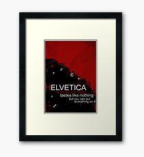 Helvetica Is Kinda Like Toast (Red) Framed Print