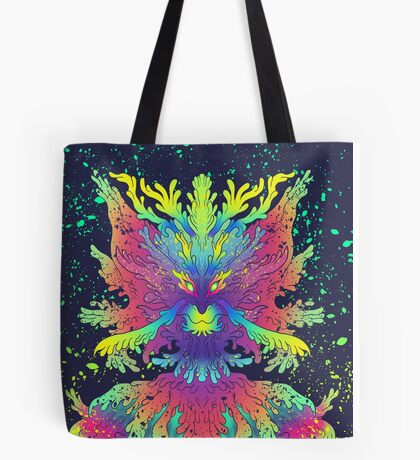Neon Critter Tote Bag