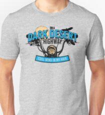 Dunkles Wüsten-Landstraßen-Hotel Kalifornien Slim Fit T-Shirt