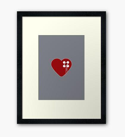 Heart Broken Framed Print