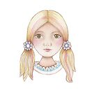 cute little girl with ponytails by trudette