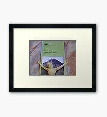 Off The Cross but not the Hook Framed Print