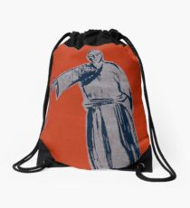 Iaido orange Drawstring Bag