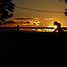 Bicyclist's Silhouette by ericseyes