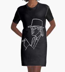 Rock Musiker One Line Illustration T-Shirt Kleid