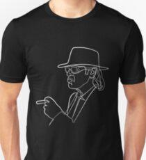 Rock Musiker One Line Illustration Slim Fit T-Shirt