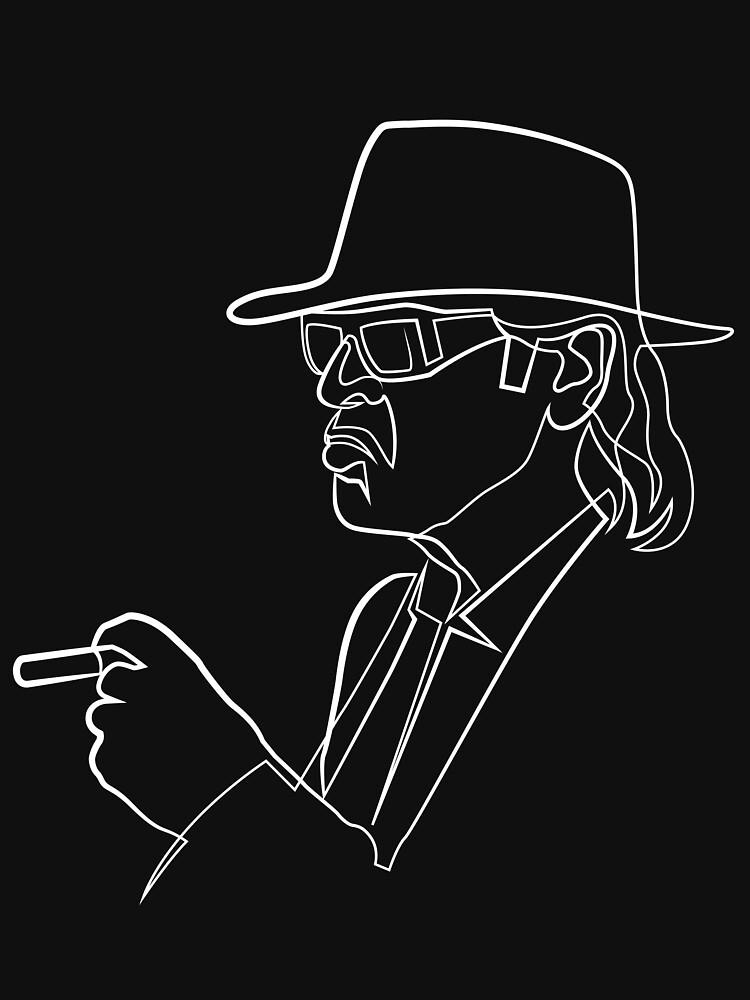 Rock Musiker One Line Illustration von singleliner