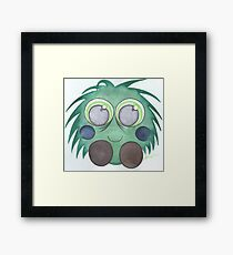 Green fluff Framed Print