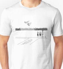 Girls (DDDD) – Abduction [Black and White Version] Unisex T-Shirt
