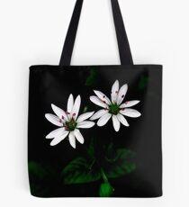 Botanical Still-life Little White Flowers Tote Bag