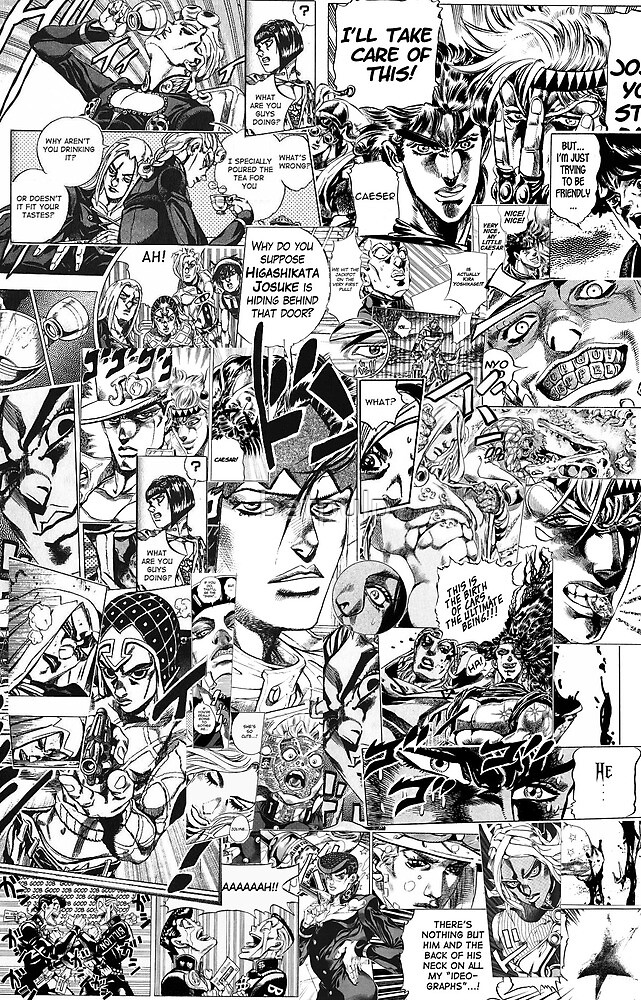 Jojo's Bizarre Adventure Phone Case Collage by batpulp