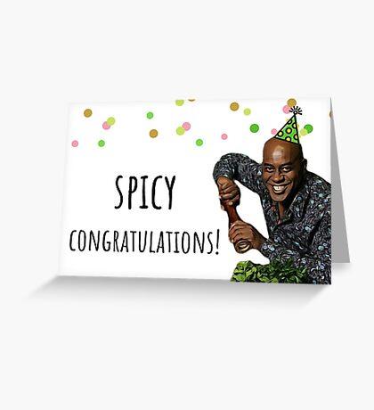 Ainsley Harriott, felicitaciones picantes, tarjeta de felicitación divertida, etiqueta engomada, taza, regalo, presente, ideas Tarjeta de felicitación