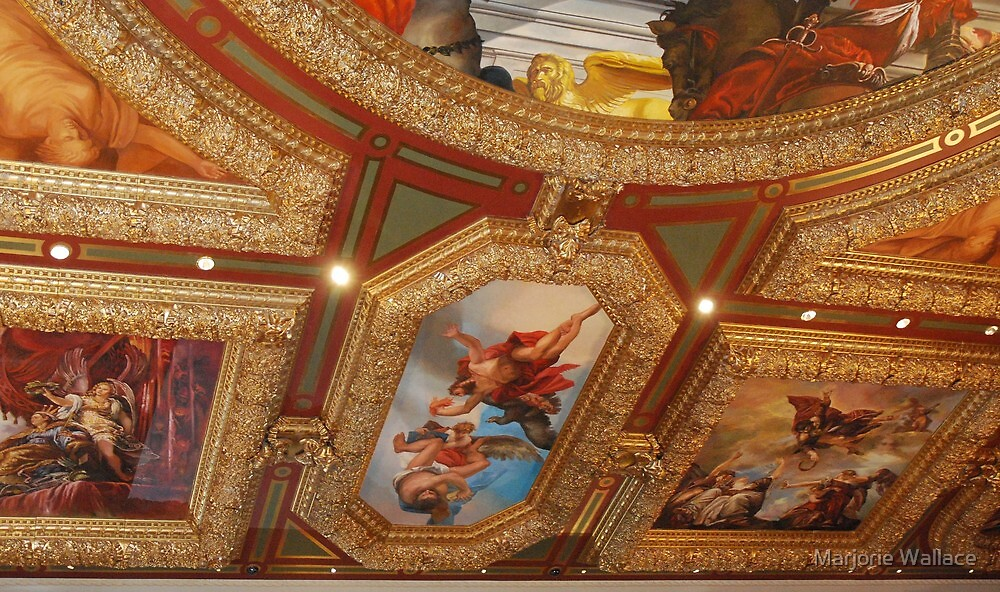 Gorgeous ceiling at Venetian ~ Las Vegas by Marjorie Wallace