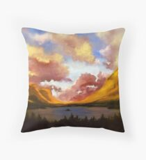 Purple Cloud Landscape Throw Pillow