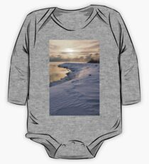 Icy, Snowy Lake Shore Morning One Piece - Long Sleeve