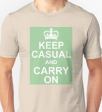 A Casual Classic iconic Keep Calm inspired t-shirt design Unisex T-Shirt