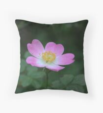 Clustered Wild Rose Throw Pillow