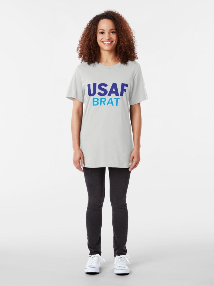 Alternate view of Air Force Brat Blues Slim Fit T-Shirt