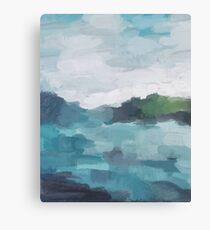 Ocean Island Abstract Art Modern Painting Canvas Print