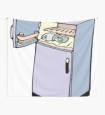 Goofy Cartoon Fridge Wall Tapestry