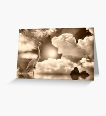 Standing in the Light Greeting Card