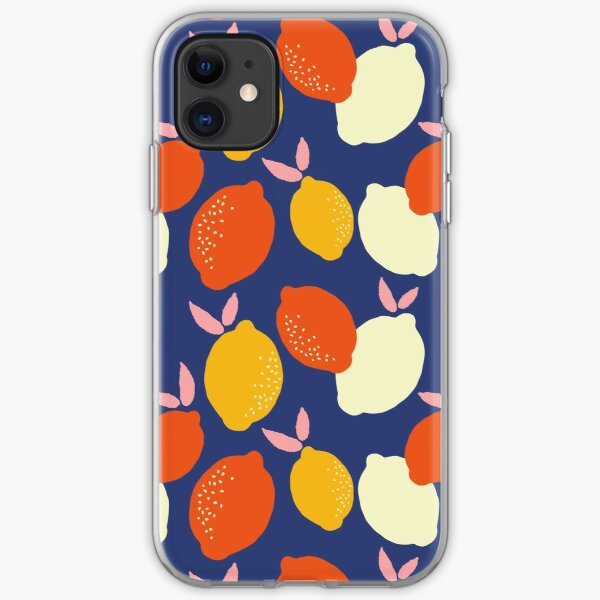 Bright and Bold Lemons iPhone Soft Case