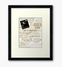 Captain Quotes Framed Print