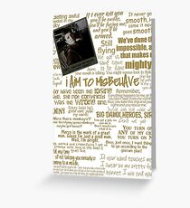 Captain Quotes Greeting Card