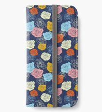 Bright Roses Pattern iPhone Wallet/Case/Skin
