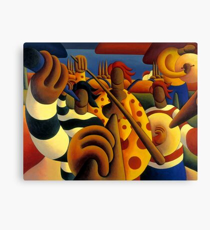 Soft  Musicians in landscape Canvas Print