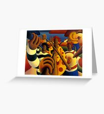 Soft  Musicians in landscape Greeting Card