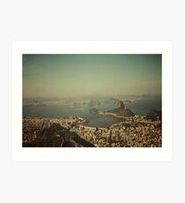 Rio de Janeiro vintage Art Print