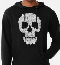 Sudadera con capucha ligera Skulls are for Pussies