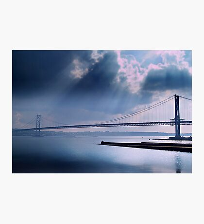 The Forth Road Bridge, North Queens Ferry. Photographic Print