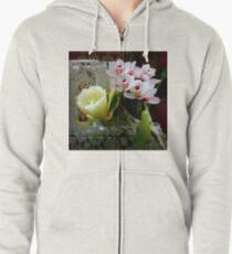 May Flowers Zipped Hoodie