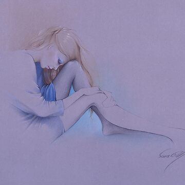 """Blue"" Colour Pencil Artwork by sara-moon"