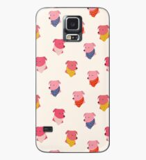Pink Dogs with Bandanas Case/Skin for Samsung Galaxy